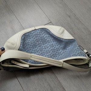 Coach Bags - Coach blue and white bag